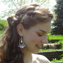 Greek inspired Prom half-updo with natural makeup