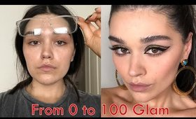 O To 100 Glam. Cleopatra eyes