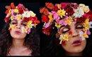 Flower Queen Halloween Makeup