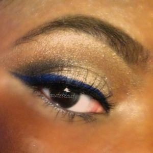 Late night makeup during the blizzard.