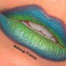 Peacock Inspired Lips!