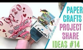 Pop Up Box Card Project Share and Accordion Heart Mini Album Project Share #14