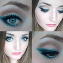 Smoked out liner with turquoise accent