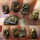 Steampunk Nails |Machinarium game inspired|