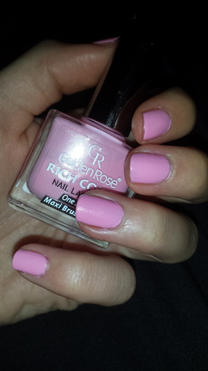 I've bought it recently, only for 1,00?. The colour is fine, if you like the similar colours of your nail lacquer! Its one coat nail lacquer, ultra shine & lasting with easy application with maxi brush.