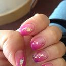 Multicolor sparkle gel polish