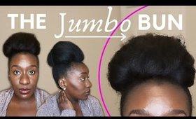 Jumbo Bun on 4c Natural Hair using Hair Extension Wrap Ponytail