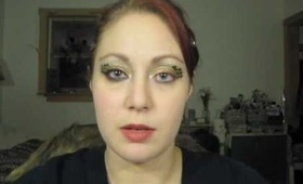 Glittery Hot Pink & Green & Purple Leopard Print Eye Makeup Tutorial