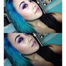 Purple smokey eye 😈💜