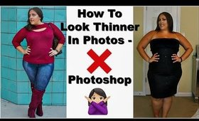 HOW TO LOOK NATURALLY THINNER IN PHOTOS | NO PHOTOSHOP OR FACETUNE