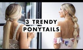 3 Easy Trendy Ponytails | Luxy Hair