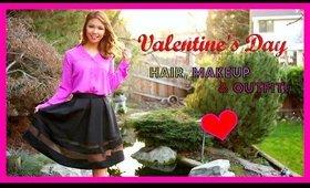 Flirty Hair, Makeup & Outfit!