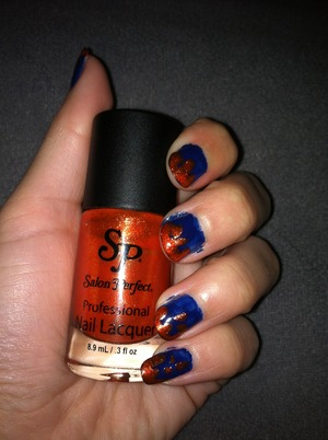 L'ore'al One Step Base coat #200 Maybelline Color Show #360 (Sapphire Siren) Salon Perfect (Goldfish)