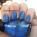 Matte Blue Glitter