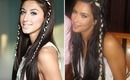 Kim Kardashian Inspired Boho-Chic Ribbon Braids