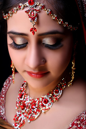 Indian traditional bridal look done by me for a photoshoot