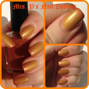 This is the brand new Firestarter available for the first time TODAY! A jelly holo thermal that goes from orange when cold to yellow when hot. Www.etsy.com/MrsPsNailPotions  Unique hand-mixed & custom nail lacquers created by me!