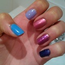 Blue to deep Purple