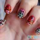 Gradient and animal print