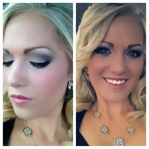 This is the makeup i wore to a wedding this past weekend! It looks like i used black in the eyeshadow but its actually just a dark brown!