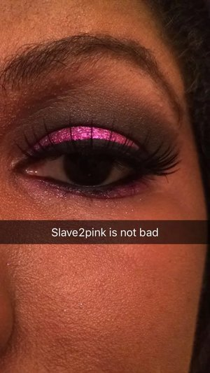 This is a post from snapchat,I did this look for a job interview with beglammed.Slave2pink is my lucky eyeshadow.