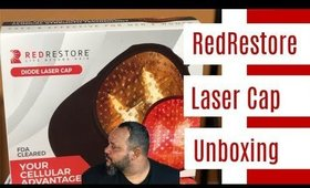 RedRestore Laser Hair Growth Cap Unboxing Review Promote hair growth in bald spots || Vicariously Me