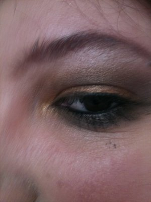 fun goldy naked palette look