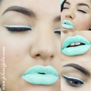 Today's makeup look: In the Mint, @feyoshecosmetics lippy in Resent Mint :) for more 👉 www.jolanijolie.com #mintlips #mua #motd#anastasiabeverlyhills #makeup #makeupaddict #makeupmafia#jolanijolie #feyoshe #feyoshecosmetics
