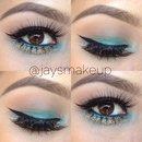 Mermaid eye look.