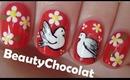 Cute Dove Birds - Nail art design inspired by Iuli's Nails Art Design