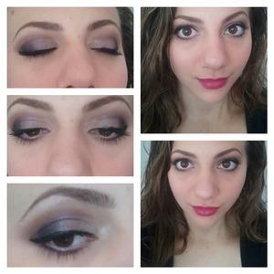 a purple eye look