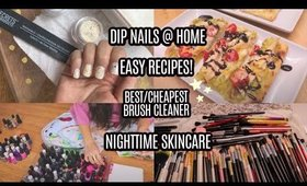 VLOG | Easy Recipes, Dip Nails at Home + More