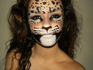 Full face, theatrical leopard makeup, what do you think?