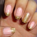 Pink Glitter me with gold!