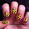 Primary Leopard Nail Art