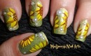Easy Cute Sunflowers Nail Art / Diseño de Girasoles