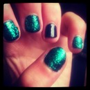 Green and glittery