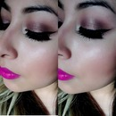 baked eyeshadow and eyeliner