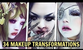 THE POWER OF MAKEUP • Shironuri Makeup Transformations (Compilation) 白塗りメイク