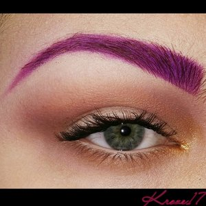Today's look is purple! Who could've guessed?! Haha  I really love these easy looks with fun brows.  Products used:  Nyx Fair Concealer Rimmel Powder Sugarpill Poison Plum Lorac Pro Palettes 1&2 Stila Soul Palette Rimmel Brown Pencil Nyx Wonder Pencil Light Rimmel Mascara    #lorac #colorfulbrow #creative #inspiration #bold #Sugarpill #Stila #Rimmel #Nyx #workmakeup #beauty #beautyproducts #beautyshot #cosmetics #makeup #makeuptrends #makeuplook #instamakeup #instabeauty #Kroze17