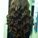my hairl on my last day of school ❤