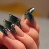 Glitter confetti nail art