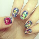 Claude Monet Water Lilies Nail Art