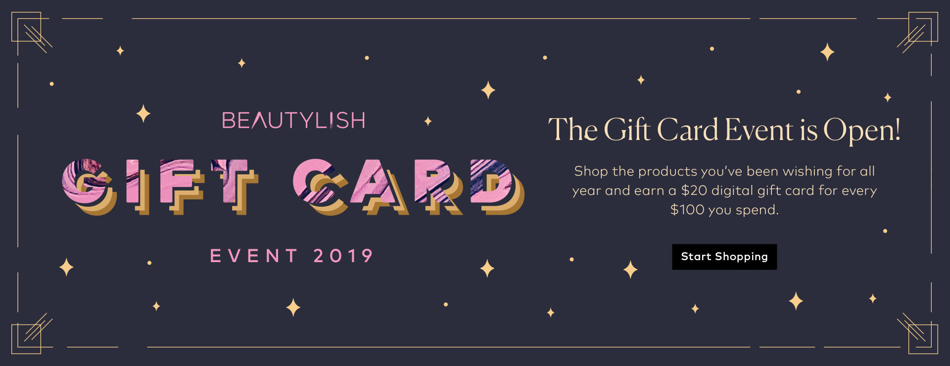 Shop Beautylish's Annual Gift Card Event now!