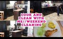 COOK AND CLEAN WITH ME//WEEKEND CLEANING//SPEED CLEANING 2020