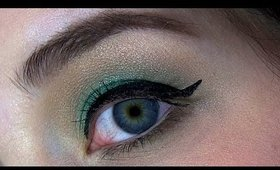 Golden Green Eye Makeup Tutorial