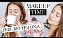 GET READY WITH ME (ON A SICK DAY) FEEL AWAKE & FRESH! | Kendra Atkins