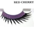 Red Cherry Shimmer & Feather Lashes - 80'S FLASH