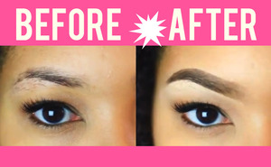 Anastasia Dipbrow Pomade Brow Before & After