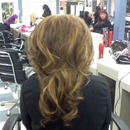Big sexy hair contest, hair done (teasing) by me and curls done by team